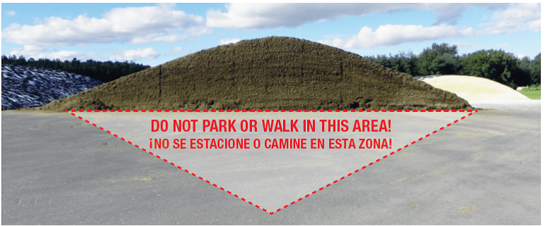 Silage Safety Zone: Never stand closer to the face than 3 times its height.